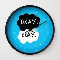 okay Wall Clocks featuring Okay. Okay. by Kate & Co.