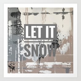 Snowfall - let it snow Art Print