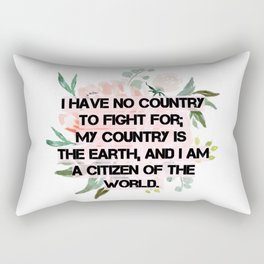 Citizen of the world, V Debs quote Rectangular Pillow