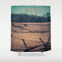 View of Antietam National Battlefield Civil War Battleground Maryland Shower Curtain