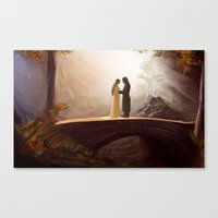 aragorn Canvas Prints featuring Arwen and Aragorn by Trent Kühn