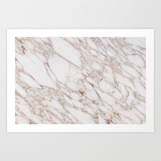 White Marble Carrara Calacatta Art Print