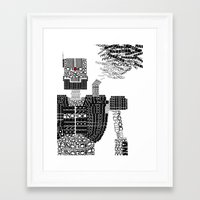 android Framed Art Prints featuring ANDROID by Andrew Sebastian Kwan