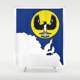South Australia Map with Flag of South Australia SA Shower Curtain