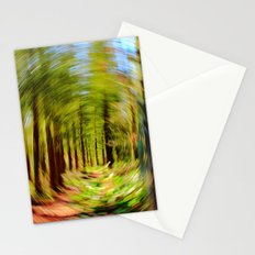 Abstract woodland spin Stationery Cards