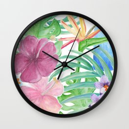 Malia's Tropical Print Wall Clock