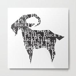Black Philip V Metal Print