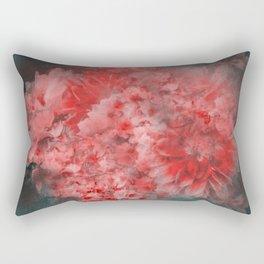 Abstract Red Flowers Rectangular Pillow