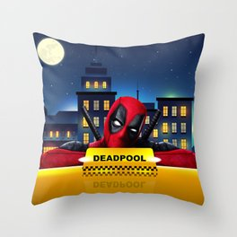 Dead Pool Taxi Night Throw Pillow