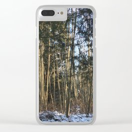 Winter at Home Clear iPhone Case