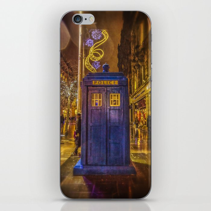 Old Fashioned Police Box in Glasgow iPhone Skin