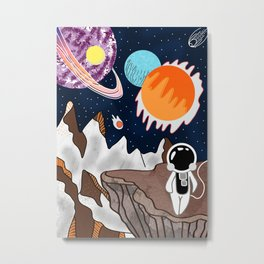 Astronaut on planet Metal Print