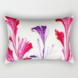 Painted Flowers Rectangular Pillow