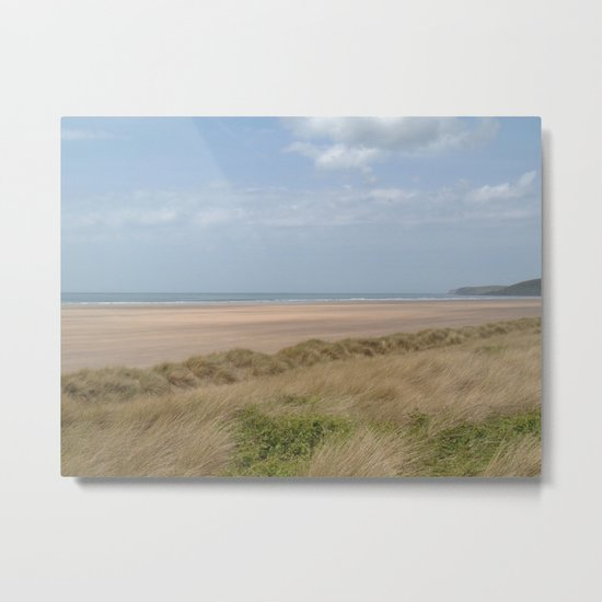 SAUNTON SANDS BEACH NORTH DEVON Metal Print