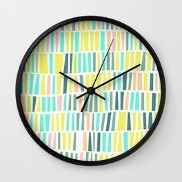 Terrazzo pastel overlay Wall Clock