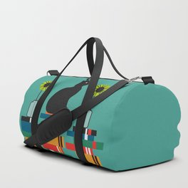 Cat, books and flowers Duffle Bag