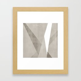 Desert Shadow | Abstract in Neutrals Framed Art Print