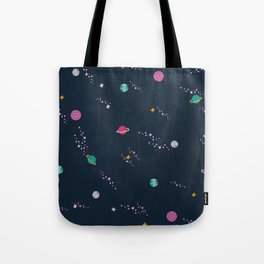 Lost in Space Pattern Tote Bag