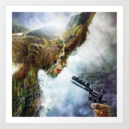 Mother nature is in War Art Print