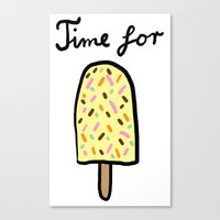 popsicle Canvas Prints featuring Popsicle by Ena Jurov
