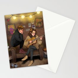 harry with guitar and louis Stationery Cards