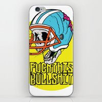 nfl iPhone & iPod Skins featuring NFL Skull by Bowman Illustration