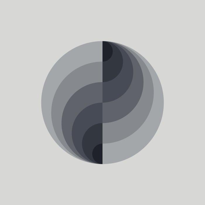 Marble Gray Globe LT Duvet Cover