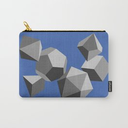Gray scale polyhedral dice Carry-All Pouch