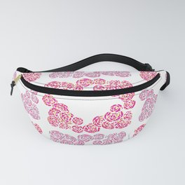 Digital Overlapping Colourful Cluster of Roses Design Fanny Pack