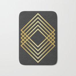 Gold square fashion pattern Bath Mat