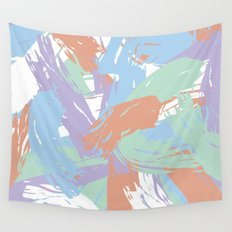 Pastel Paint Wall Tapestry