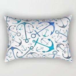 Nautical Watercolour Anchors Rectangular Pillow