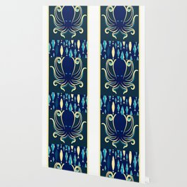 Rubino Zen Octopus Blue Wallpaper