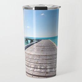 Turks and Caicos beach pier Travel Mug