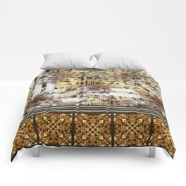 Abstract Animal Print Geometric Gothic Tile Comforters