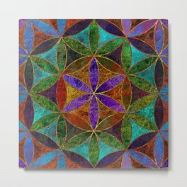 The Flower of Life (Sacred Geometry) 2 Metal Print