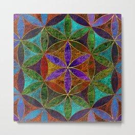 The Flower of Life (Sacred Geometry) 2 Metal Print