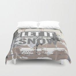 Snowfall - let it snow Duvet Cover