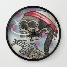 Roll me up and smoke me when i die Wall Clock