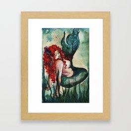 Plus Size Green Mermaid Framed Art Print
