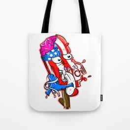 Patriotic Funny Monster Ice Pop Tote Bag
