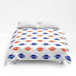 Florida fan university gators orange and blue college sports footballs pattern Comforters