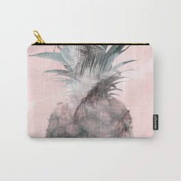 Pink Tropical Beachy Pineapple Carry-All Pouch