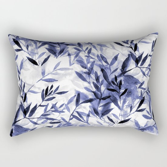 Changes Indigo Rectangular Pillow