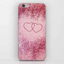 In Love Sparkling Glitter Hearts #2 #red #decor #art #society6 iPhone Skin