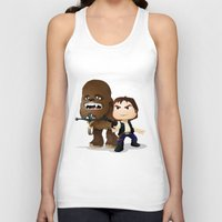 han solo Tank Tops featuring Han Solo & Chewbacca by 7pk2 online