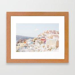 Santorini Oia Framed Art Print