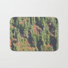 AUTUMN BLUEBERRIES IN OPEN ALPINE FOREST NORTH CASCADE RANGE Bath Mat