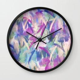 Pastel Floral Extravaganza Abstract Wall Clock