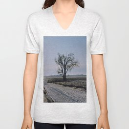 Minnesota Winter- Tree - on the way to Marshall - Wild Veda Unisex V-Neck